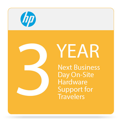 HP Next Business Day On-Site Hardware Support for Travelers (3-Year)