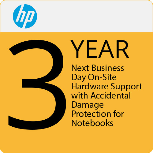 HP 3-Year Next Business Day On-Site Hardware Support with Accidental Damage Protection for Notebooks