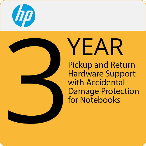 HP 3-Year Pickup and Return Hardware Support with Accidental Damage Protection for Notebooks