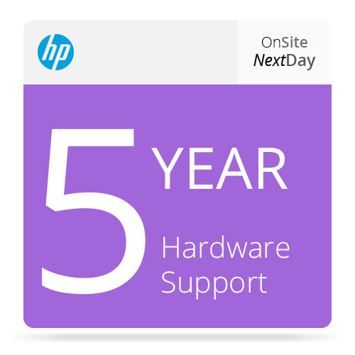 HP 5-Year Next Business Day Onsite Hardware Support for Designjet T1200 HD-MFP