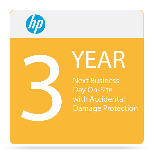 HP 3-Year Next Business Day Onsite Hardware Support with Accidental Damage Protection G2 for Notebooks