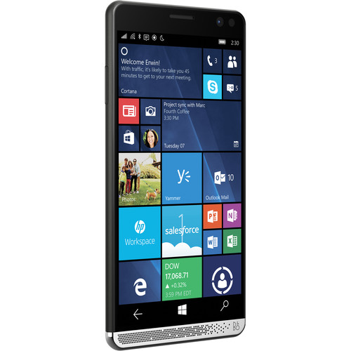 HP Elite x3 X9U42UT 64GB Smartphone (Unlocked, Black)