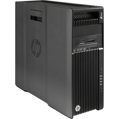 HP Z640 Series Turnkey Workstation with 32GB RAM, Quadro M2000, and Blu-ray Disc Rewriter