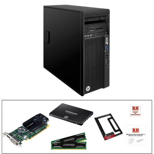 HP Z230 F1L54UT Turnkey Workstation with 250GB SSD, 20GB RAM, and K620