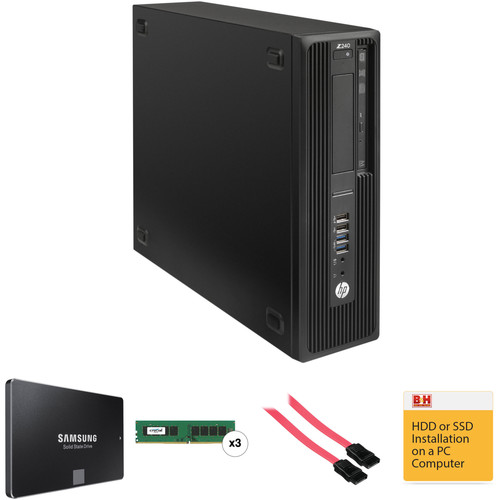 HP Z240 Series Small Form Factor Turnkey Workstation with 16GB RAM and 250GB SSD