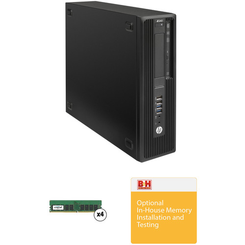 HP Z240 Series Small Form Factor Turnkey Workstation with 64GB RAM