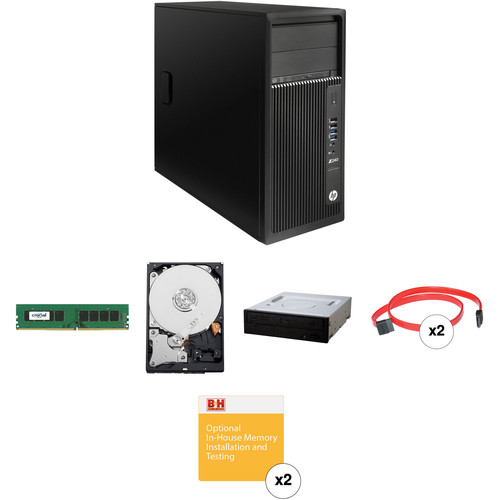 HP Z240 Series Tower Turnkey Workstation with 16GB RAM, 4TB HDD, and Blu-ray Drive