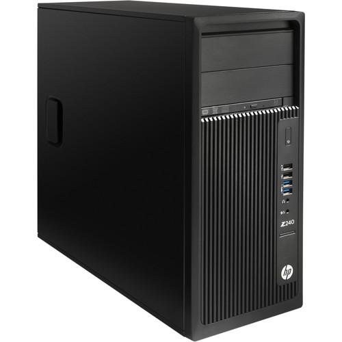 HP Z240 Series Turnkey Workstation with 32GB RAM, 500GB SSD, 5TB HDD, Quadro K1200, and Blu-ray Drive