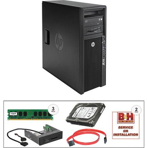 HP Z420 Series F1M14UT Turnkey Workstation with 16GB RAM, 3TB HDD, and Media Card Reader