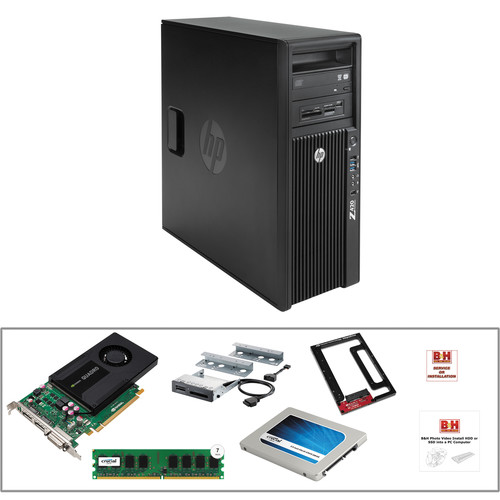 HP Z420 F1L02UT Workstation with 500GB SSD, 32GB RAM, Card Reader and Quadro K2000 Kit