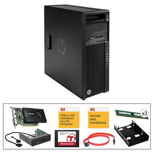 HP Z440 Series F1M42UT Turnkey Kit with 32GB RAM, 512GB SSD, and Quadro K2200 Graphics Card