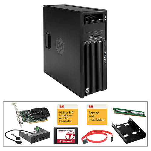 HP Z440 Series F1M42UT Turnkey Kit with 16GB RAM, 512GB SSD, and Quadro K620 Graphics Card