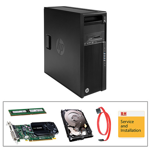 HP Z440 Series F1M47UT Turnkey Workstation with 16GB RAM, 4TB HDD, and Quadro K620