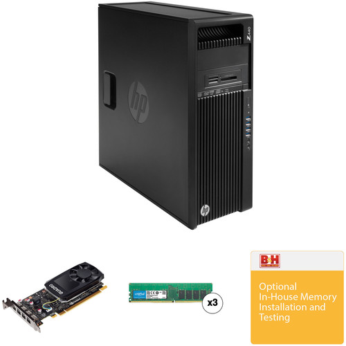 HP Z440 Series Tower Turnkey Workstation with 32GB RAM and Quadro K620 Graphics Card