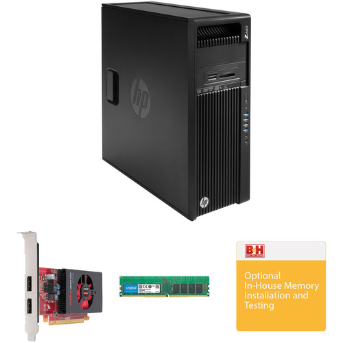 HP Z440 Series Tower Turnkey Workstation with 16GB RAM and FirePro W2100 Graphics Card