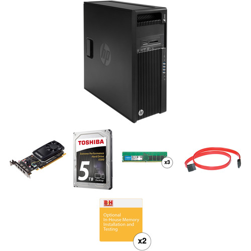 HP Z440 Series Tower Turnkey Workstation with 32GB RAM, 5TB HDD, and Quadro K1200