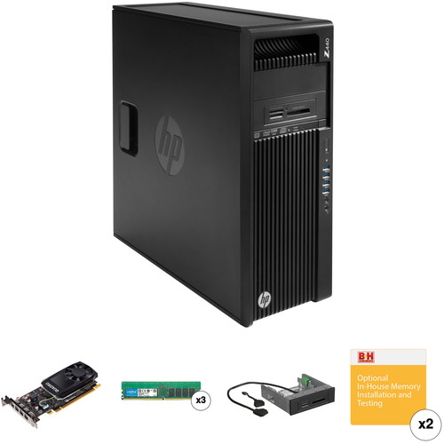 HP Z440 Series Turnkey Workstation with 32GB RAM, Quadro K620, and 15-in-1 Media Card Reader