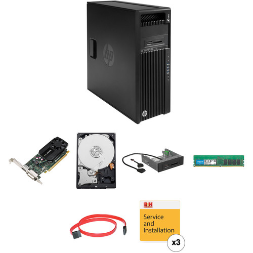 HP Z440 Series Turnkey Workstation with 16GB RAM, 3TB HDD, Quadro K620, and 15-in-1 Media Card Reader