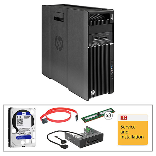 HP Z640 F1M59UT Turnkey Workstation with 32GB RAM, 5TB HDD, and Blu-ray Drive
