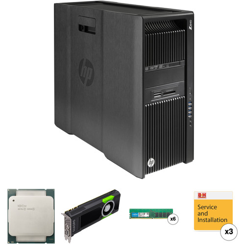HP Z840 Series Turnkey Workstation with 2x Xeon E5-2650 v4, 64GB RAM, and Quadro M5000