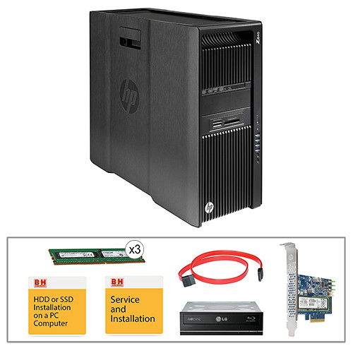 HP Z840 Series L0P09UT Turnkey Workstation with 32GB RAM, 256GB SSD, and Blu-ray Drive