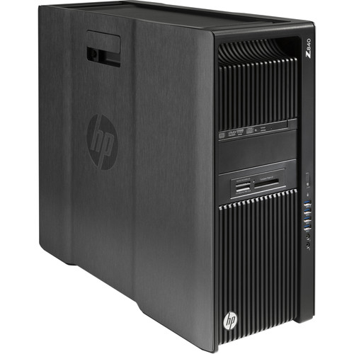 HP Z840 Series Rackable Minitower Turnkey Workstation with 32GB RAM, 512GB SSD, Quadro M4000, Blu-ray Drive, 15-in-1 Media Card Reader, and HDD/SSD Bracket