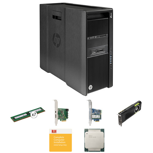 HP Z840 Series Turnkey Workstation with 2x Xeon E5-2630 v3, 64GB RAM, 512GB SSD, Quadro M5000, and Thunderbolt 2 Card