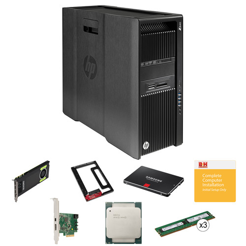 HP Z840 Series Turnkey Workstation with 2x Xeon E5-2630 v3, 32GB RAM, Quadro M4000, Thunderbolt 2 Card, and 1TB SSD