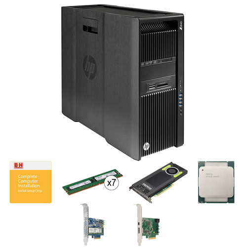 HP Z840 Series Turnkey Workstation with 2x Xeon E5-2630 v3, 64GB RAM, Quadro M5000, Thunderbolt 2 Card, and 512GB PCIe SSD