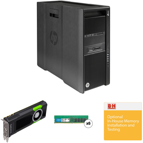 HP Z840 Series Turnkey Workstation with 64GB RAM and Quadro M5000
