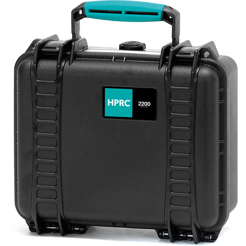 HPRC 2200E Hard Case without Foam (Black with Blue Handle)