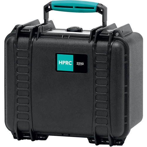 HPRC 2250E Hard Case without Foam (Black with Blue Handle)