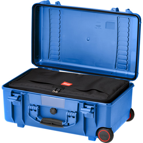 HPRC2550W Water-Resistant Hard Case with Interior Nylon Bag and Built-In Wheels (Blue)