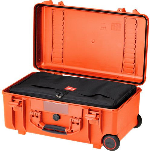 HPRC HPRC2550W Water-Resistant Hard Case with Interior Nylon Bag and Built-In Wheels (Orange)