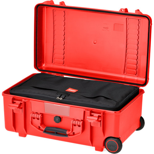 HPRC2550W Water-Resistant Hard Case with Interior Nylon Bag and Built-In Wheels (Red)