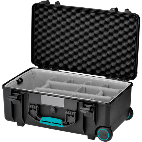 HPRC 2550SSK HPRC Wheeled Hard Case with Second Skin (Black with Blue Handle)
