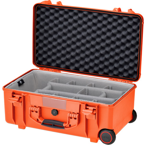 HPRC HPRC2550W Water-Resistant Hard Case with Second Skin and Built-In Wheels (Orange)