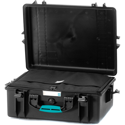 HPRC 2600BAG HPRC Hard Case with Bag and Dividers (Black with Blue Handle)