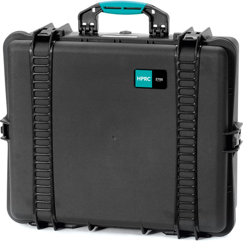 HPRC 2700E HPRC Hard Case without Foam (Black with Blue Handle)