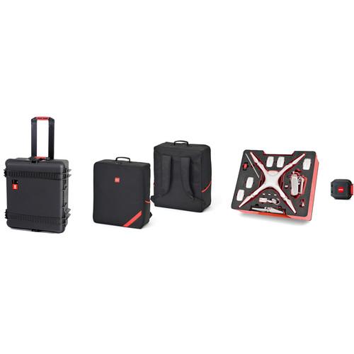 HPRC PHA4W Combo with Wheeled Hard Case, Backpack, and Foam for DJI Phantom 4 / Phantom 4 Pro / Phantom 4 Pro+