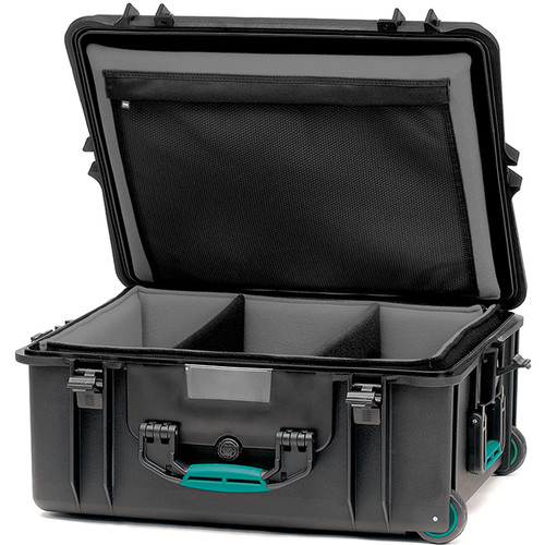 HPRC 2700WSFD HPRC Hard Case with Soft Deck and Dividers (Black with Blue Handle)