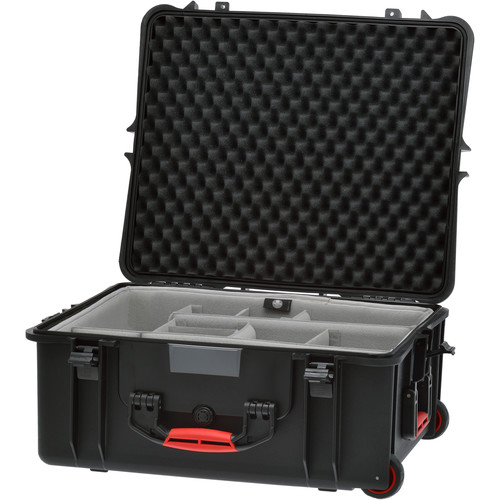 HPRC 2700W Rolling Resin Case with Second Skin and Dividers Kit (Black)