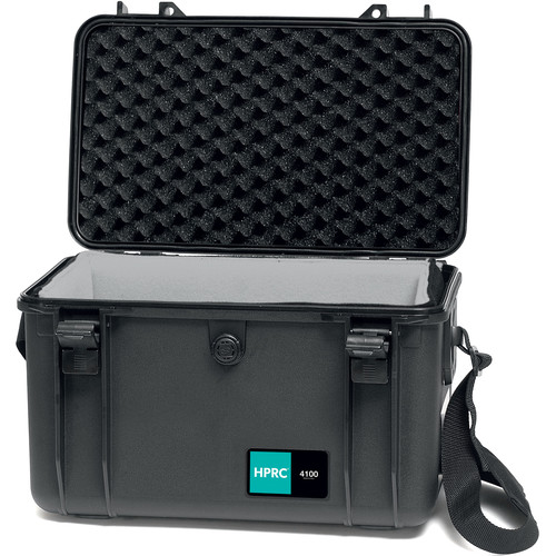 HPRC 4100 Hard Case with Soft Deck and Dividers (Black/Blue)
