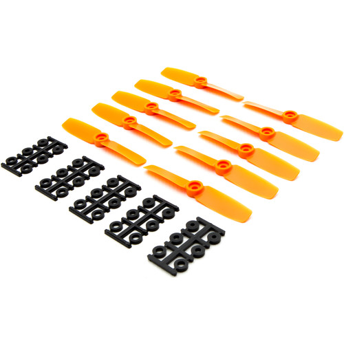 "HQProp Bullnose 4 x 4"" Fiberglass Propeller (Orange, 10-Pack)"
