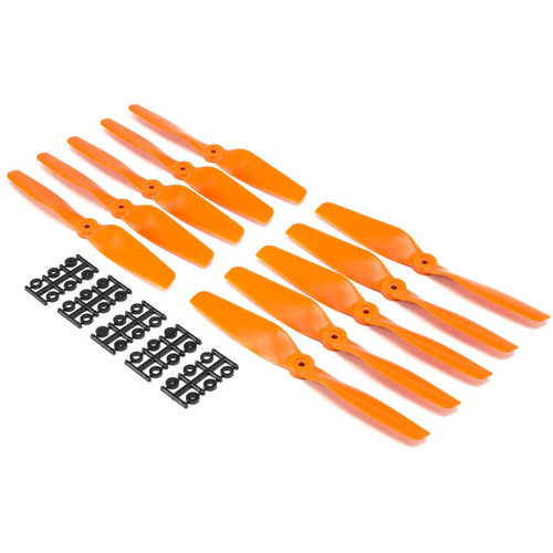 "HQProp Bullnose 8 x 5"" Fiberglass Propeller (Orange, 10-Pack)"