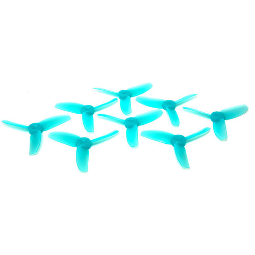 HQProp 3x3x3 Polycarbonate Propeller Set (2 x CW, 2 x CCW, Light Blue)