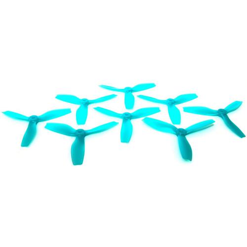 HQProp S5x4x3 Polycarbonate Propeller Set (2 x CW, 2 x CCW, Light Blue)