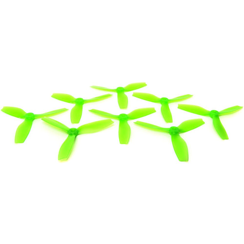 HQProp S5x4x3 Polycarbonate Propeller Set (2 x CW, 2 x CCW, Light Green)