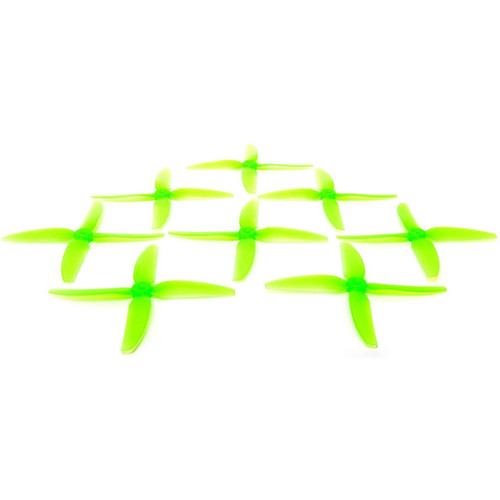 HQProp 5x4x3V1S Polycarbonate Propeller Set (2 x CW, 2 x CCW, Light Green)