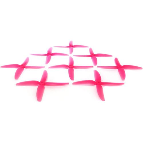 HQProp 5x4x3V1S Polycarbonate Propeller Set (2 x CW, 2 x CCW, Light Pink)